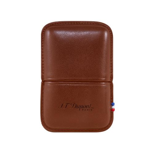 ST Dupont Ligne 2 Leather Lighter Case - Brown