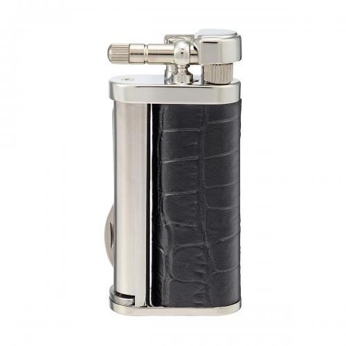 Tsubota Pearl - Eddie Pipe Lighter with Tool - Black Leather