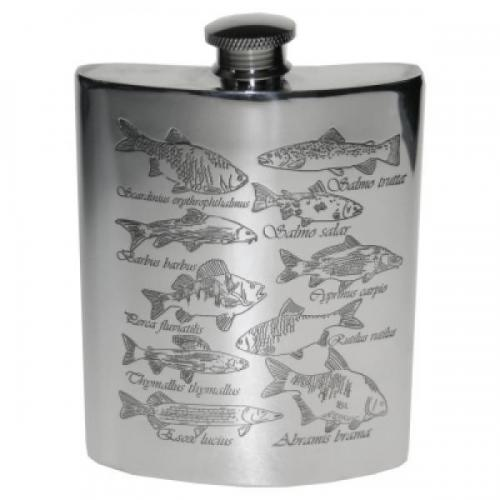 6oz Pewter Fish Personalised Hip Flask