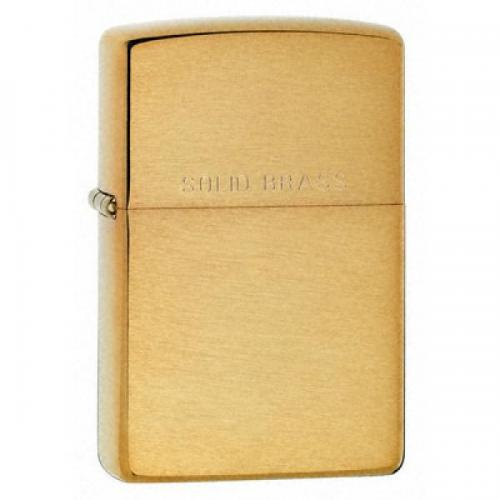 Zippo Regular Lighter - Brushed Brass