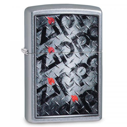 Zippo - Street Chrome Diamond Plate - Windproof Lighter