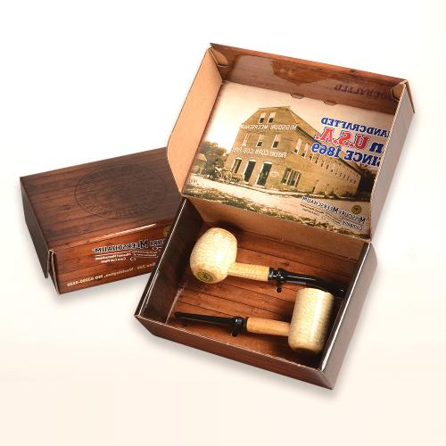 Corn Cob 2 Pipe Gift Set - Diplomat