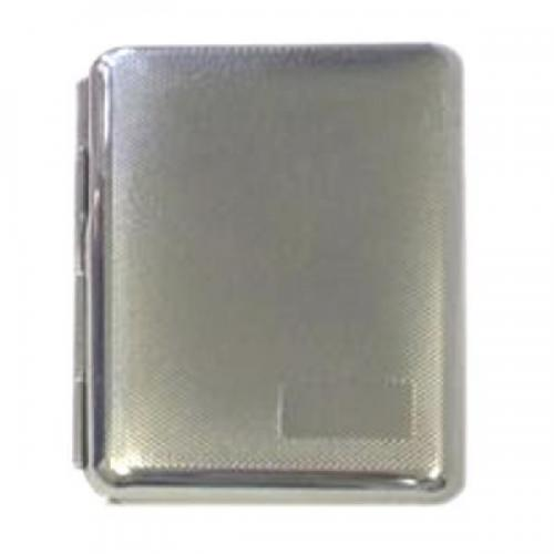 Small Chrome Diagonal Lines Personalised Cigarette Case