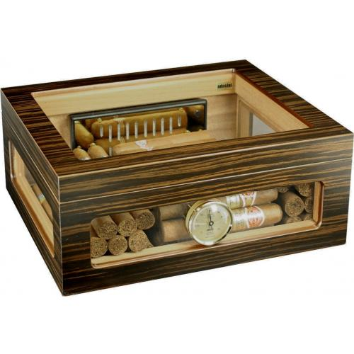 SLIGHT SECONDS - Adorini Treviso Deluxe Cigar Humidor - Medium - 60 Cigar Capacity