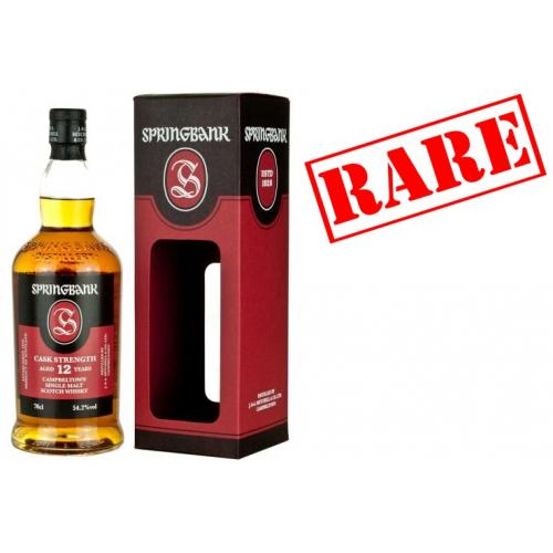 Springbank 12 Year Old Cask Strength January 2017 Single Malt Whisky - 70cl 54.2