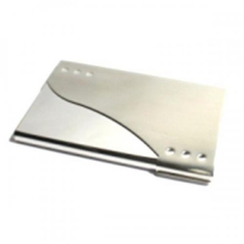 Matte & Chrome Personalised Business Card Case