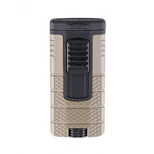 Xikar Tactical Triple Jet Flame Cigar Lighter - Tan & Black