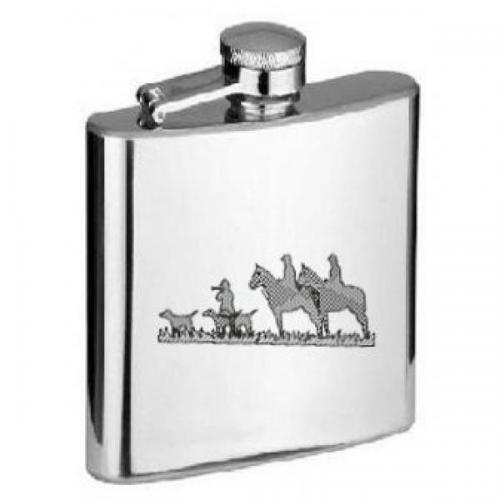 6oz Horsemen Hunters Personalised Hip Flask