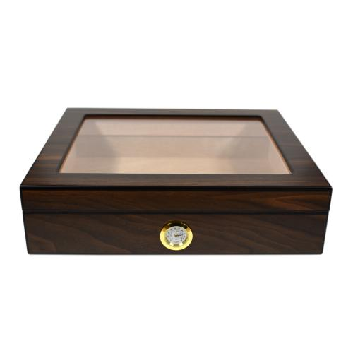 Walnut Humidor Glass Window - 20 Capacity