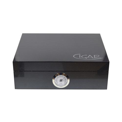 Carbon Gloss Finish Humidor - 20 Capacity