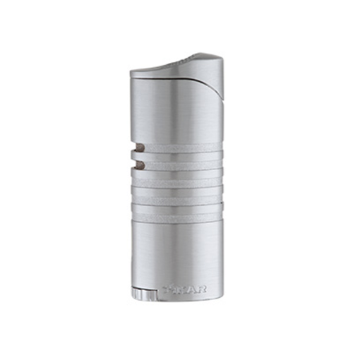 Xikar Ellipse III Triple Flame Lighter - Silver