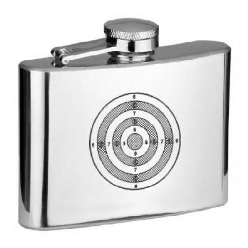 4oz Rifle Target Personalised Hip Flask
