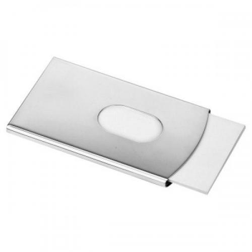High Polished Sliding Personalised Business Card Holder