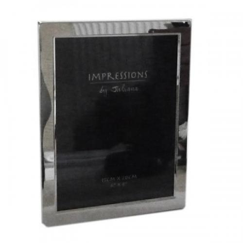 Silver Plated Personalised Photo Frame - Holds 8 x 6 Inch Photos