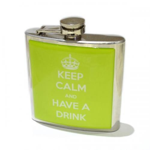 6oz Keep Calm & Have a Drink Personalised Hip Flask