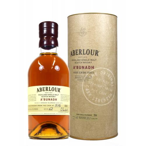 Aberlour A\'Bunadh No Age Cask Strength Whisky - 70cl 59.9%