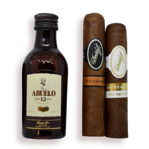 Ron Abuelo Rum and Davidoff Cigars Pairing Sampler