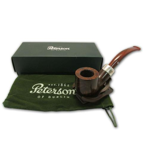 Peterson Ashford Silver Mounted Fishtail 01 Pipe
