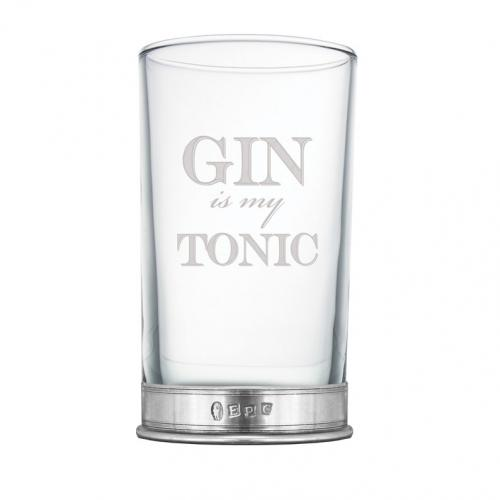 Gin is my Tonic 8 3/4oz Single Gin Hiball Glass - BAR206