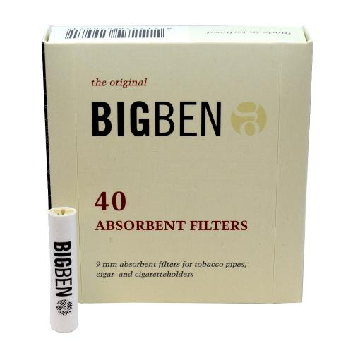 Big Ben 9mm Pipe Filters - Pack of 40