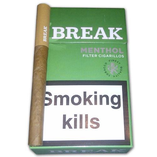 Break Filter Cigarillo - Green - 10 x Packs of 17