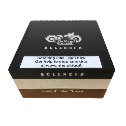 Empty CAO Flathead Steel Horse Bullneck Cigar Box