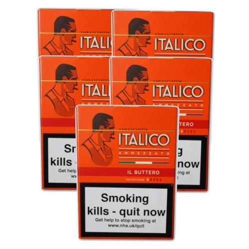 Italico II Buttero Cigars - 5 Packs of 5  (25 cigars)
