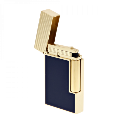 ST Dupont Lighter - Ligne 2 Micro - Blue Lacquer & Yellow Gold