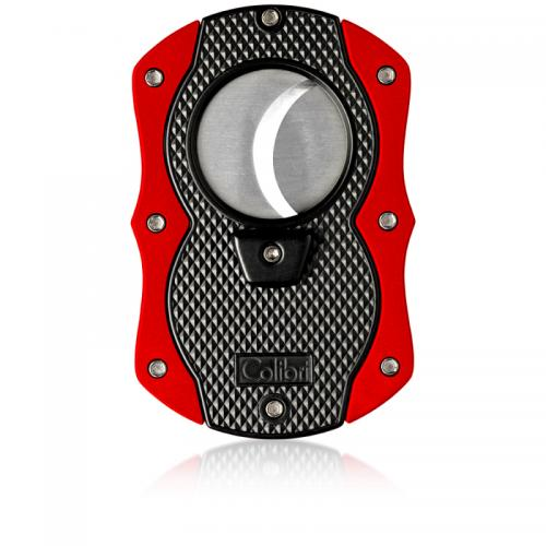 Colibri Monza Cigar Cutter - Matte Black & Anodized Red (Discontinued)