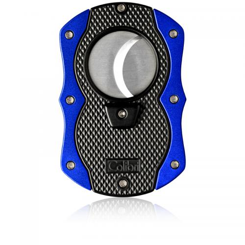 Colibri Monza Cigar Cutter - Matte Black & Anodized Blue