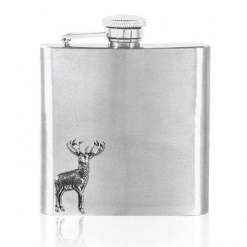 6oz Stainless Steel Hip Flask - CS236