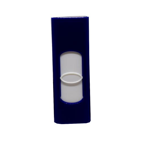 Champ Trendy USB Blue Plastic Cigarette Lighter