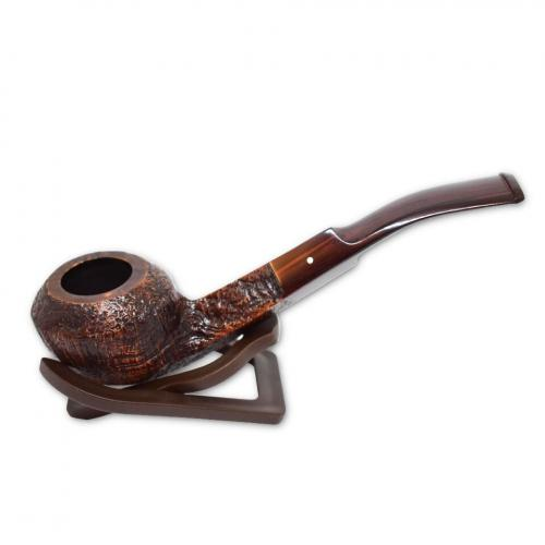 Alfred Dunhill Pipe – The White Spot Cumberland Pipe Bent Rhodesian (3208)