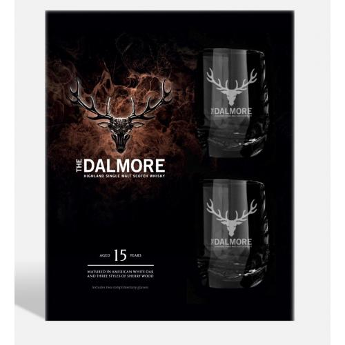 Dalmore 15 Year Old Gift Pack - 70cl Bottle with 2 Glasses