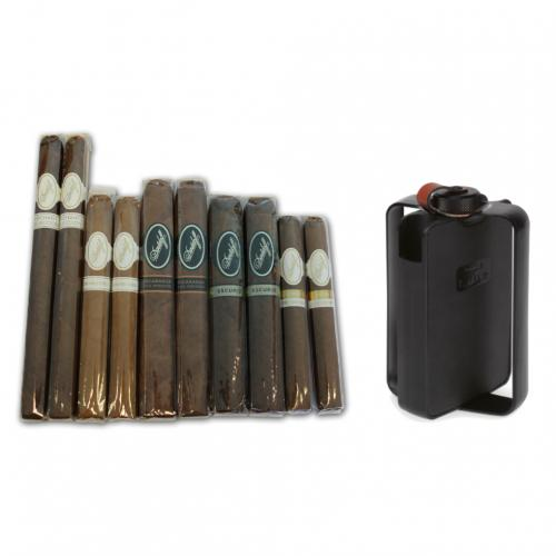Limited Edition - Davidoff Mixed Box Cigar Selection and Hipflask Sampler