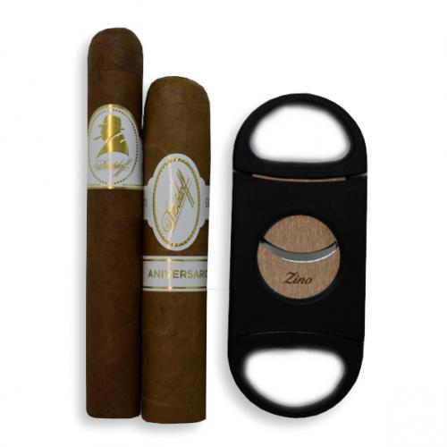Davidoff Cigar Selection + Zino Double Blade Cutter Sampler