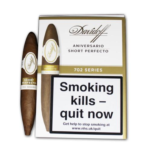 Davidoff 702 Series Aniversario Short Perfecto Cigar - Pack of 4