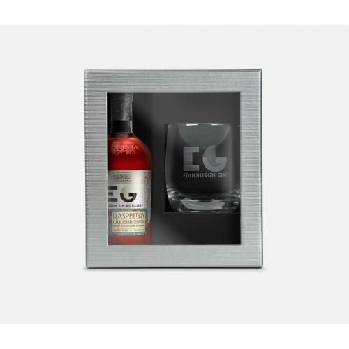 Edinburgh Gin Raspberry Liqueur 20cl with Glass Gift Set