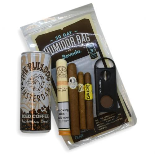 The Early Morning Pick me Up Sampler - 4 Cigars & Iced Coffee