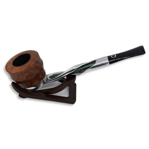Falcon Shillelagh Green Twisted Stem Light Brown Pipe (FAL013)