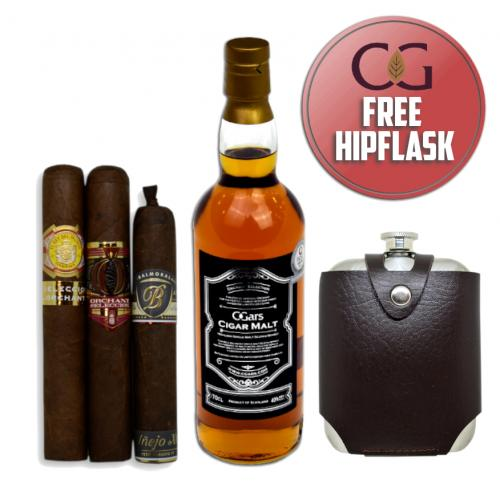 Fathers Day Gift - Luxury Cigar Malt + Cigars Pairing Sampler