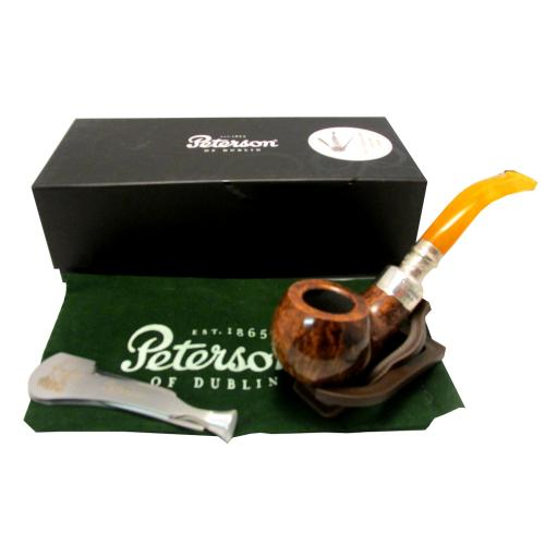Peterson Spigot Flame Grain Amber Stem - 003 (Fishtail)