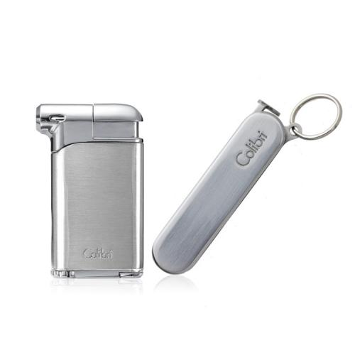 Colibri Pacific Soft Flame Lighter & Sherlock Pipe Tool - Chrome
