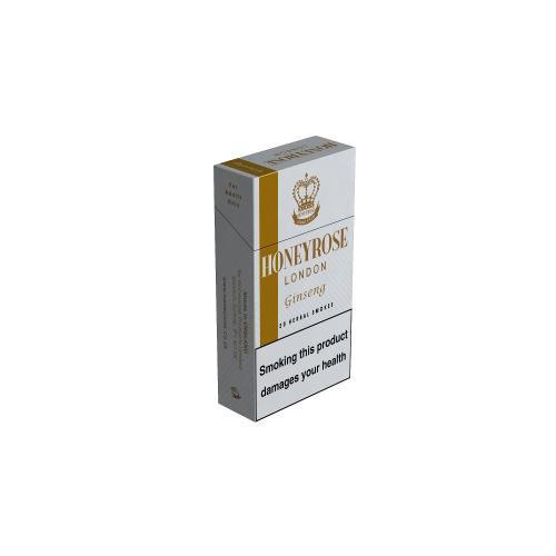Honeyrose Ginseng Flip Top - 10 Packs of 20 Herbal cigarettes (200)