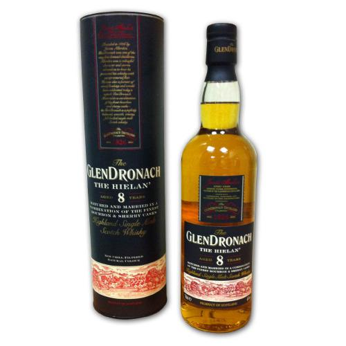 Glendronach 8 Year Old The Hielan Single Malt Scotch Whisky - 70cl 46%