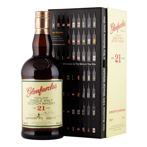 Glenfarclas 21 Year Old - Book 101 World Whiskies to Try Gift Set 70cl 43%