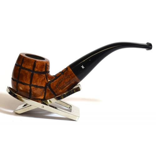 Hardcastle Briar Root 123 Checkerboard 9mm Filter Bent Fishtail Pipe (H0153)