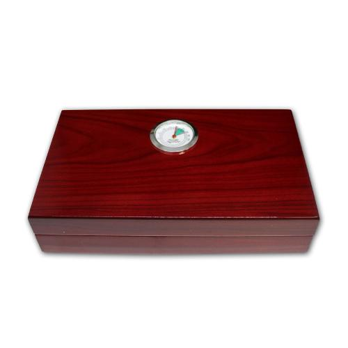 Angelo Mini High Gloss Red Humidor - 4 Cigar Capacity