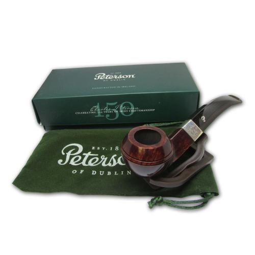 Peterson Harp Briar Silver Mounted Pipe - 080s (Fishtail)