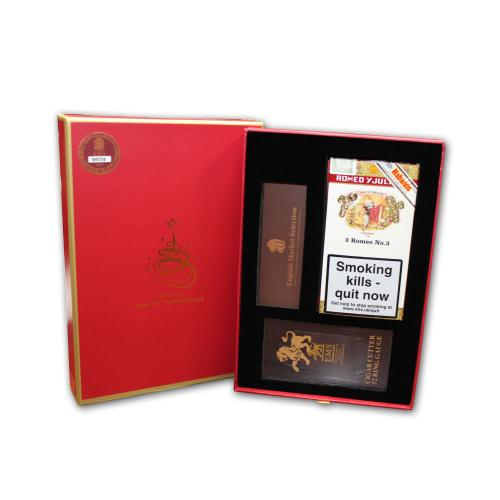 Romeo y Julieta No. 3 Christmas Box - Pack of 3 Cigars and Cutter